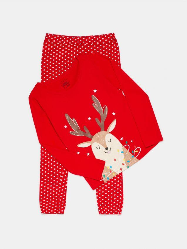 Piżama dwuczęściowa ze świątecznym nadrukiem