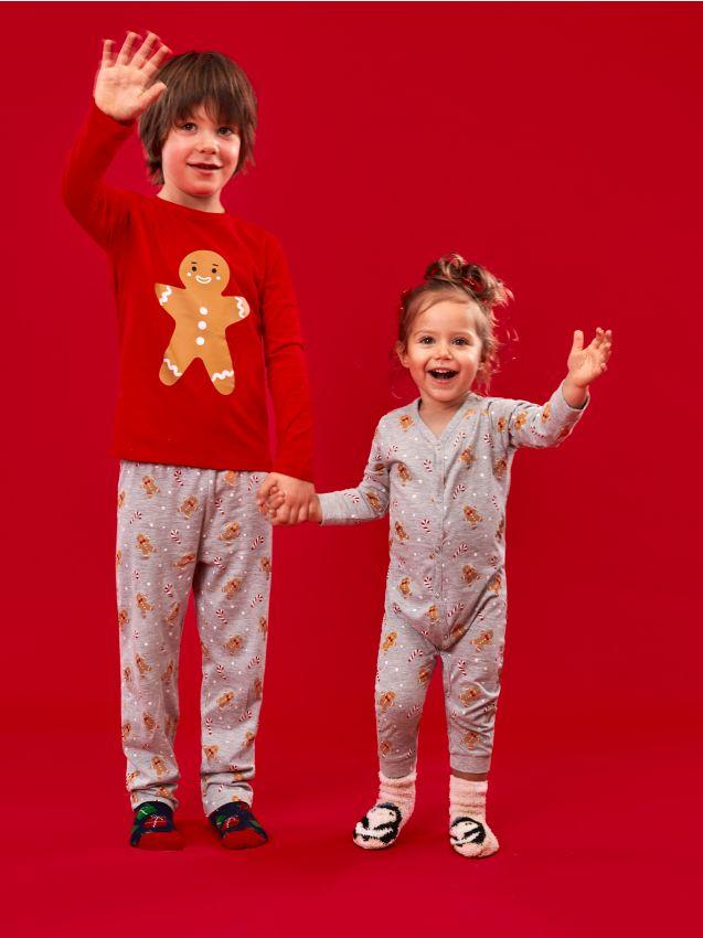 Bawełniane śpiochy ze świątecznym nadrukiem
