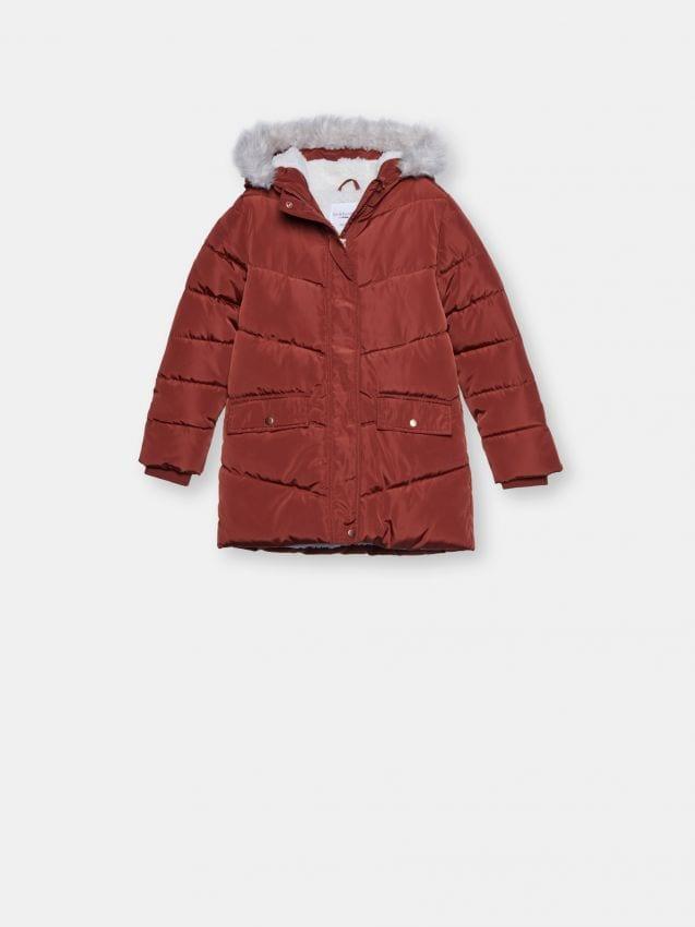 Pikowana kurtka z ociepleniem
