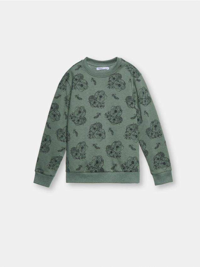 Bluza z kwiatowym nadrukiem