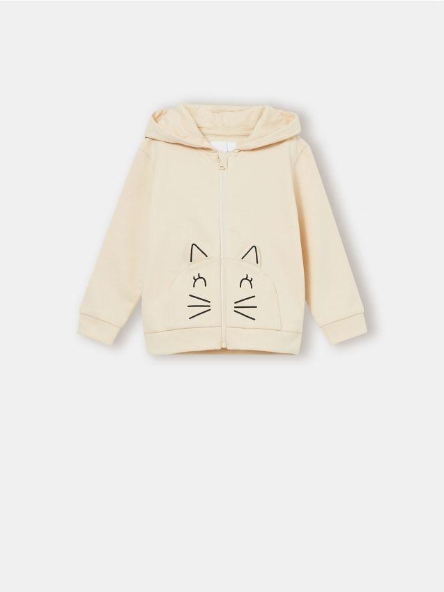 Bluza niemowlęca z kotkiem