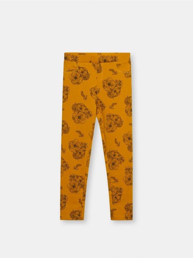 Pantaloni elastici, cu imprimeu integral