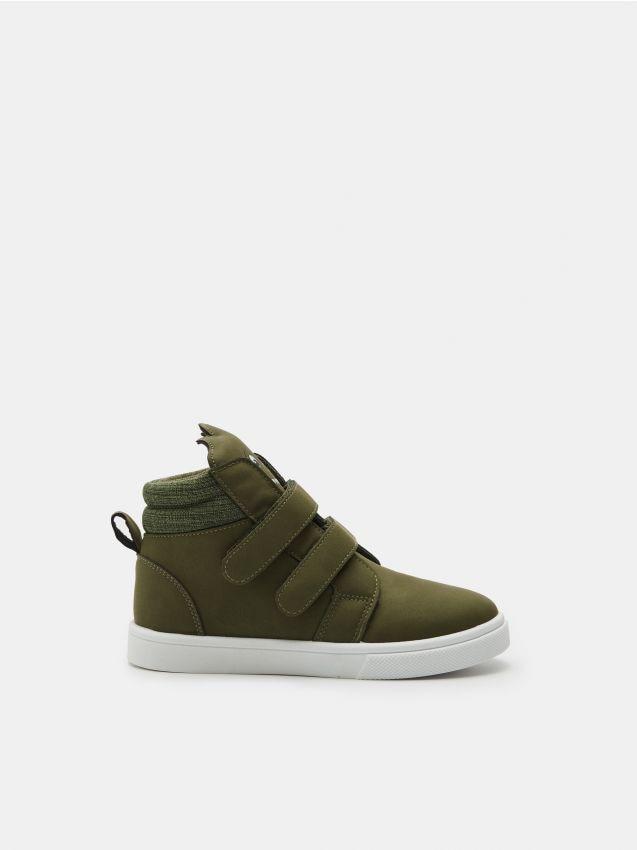 Wysokie sneakersy na rzepy