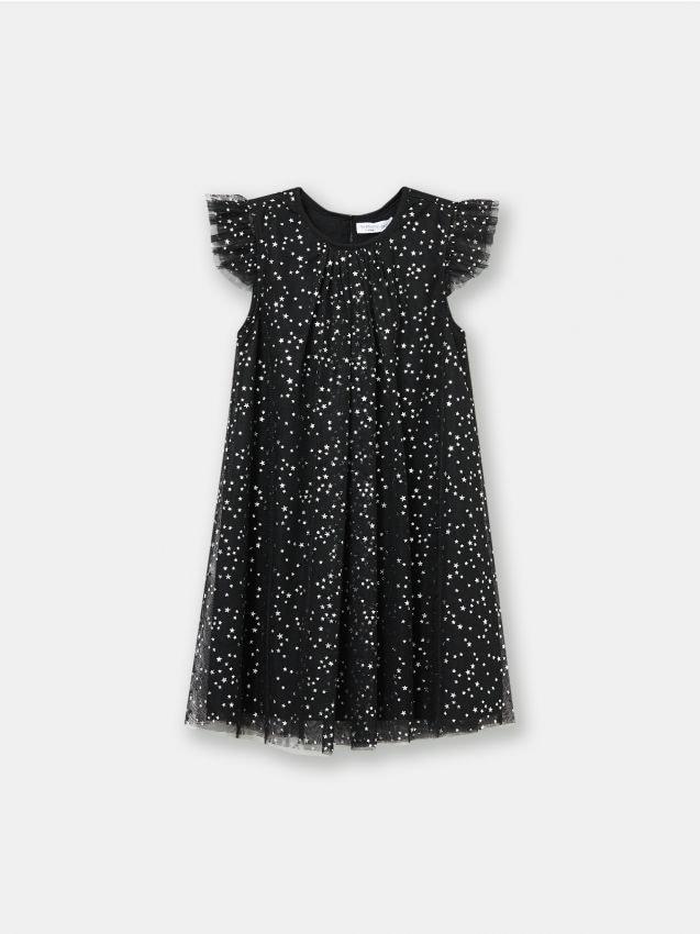 Zwiewna sukienka w gwiazdki
