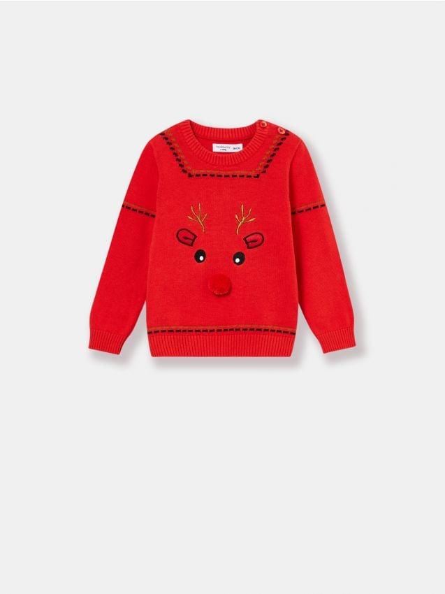 Sweter niemowlęcy z reniferem