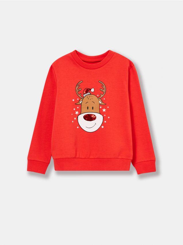 Bluza ze świątecznym nadrukiem