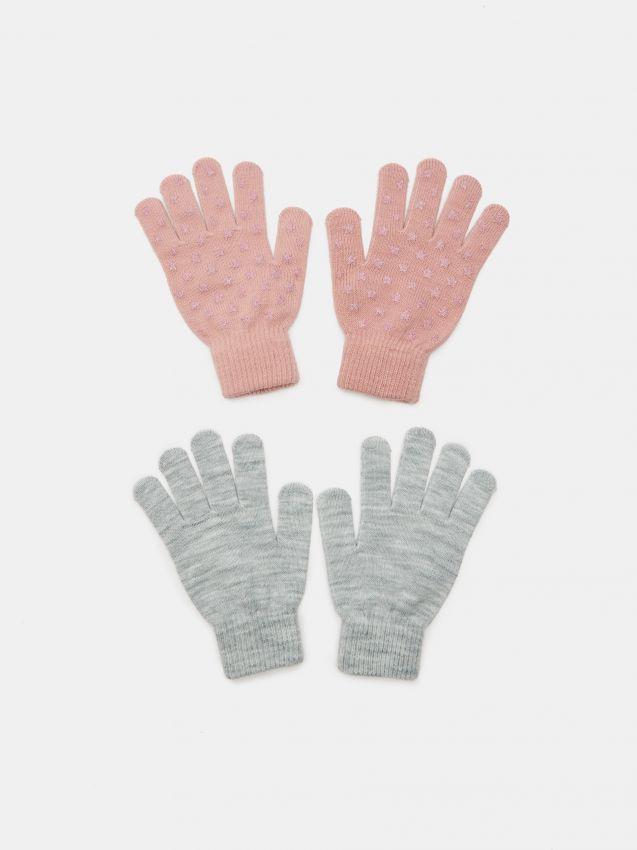 2 pack gładkich rękawiczek