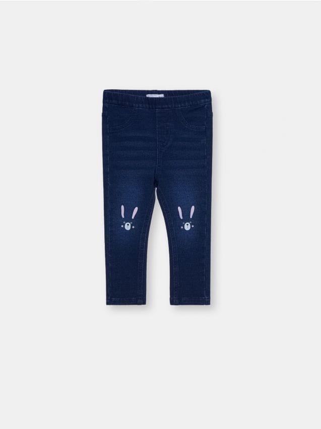 Jeansowe leggginsy