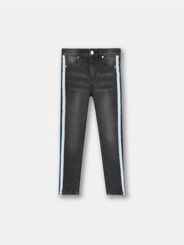 Spodnie jeansowe z lampasami