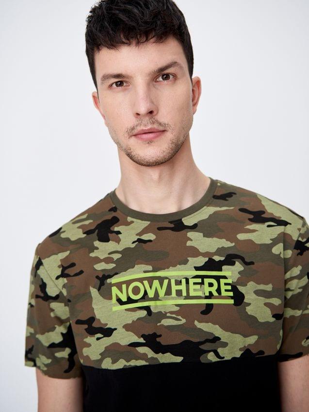 Bavlnené tričko s army motívom