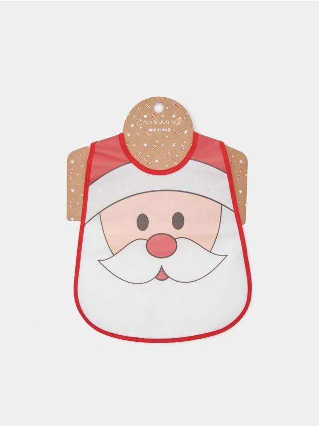 Śliniak ze Świętym Mikołajem