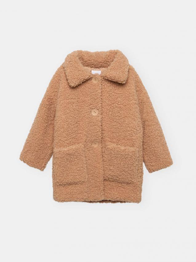 Płaszcz ze sztucznego futra