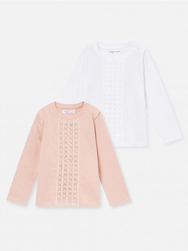 2 pack koszulek z koronką