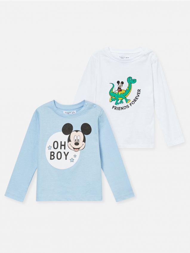 2 pack koszulek z Myszką Mickey