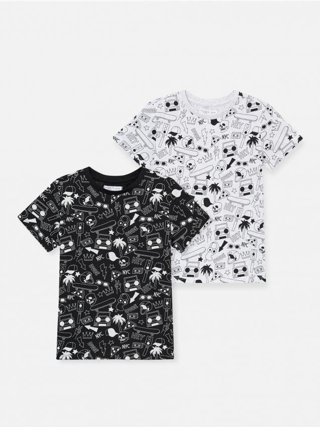 2 pack koszulek z nadrukiem