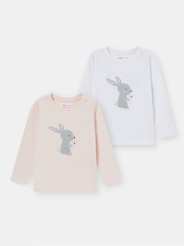 2 pachete de tricouri pentru bebeluși
