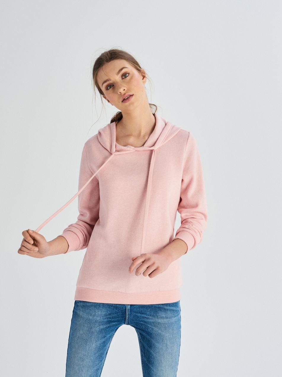 Bluza z kapturem - różowy - UW736-39M - Sinsay - 3