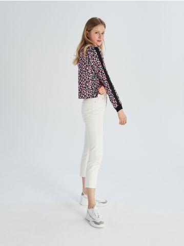 Krótka bluza w lamparcie cętki