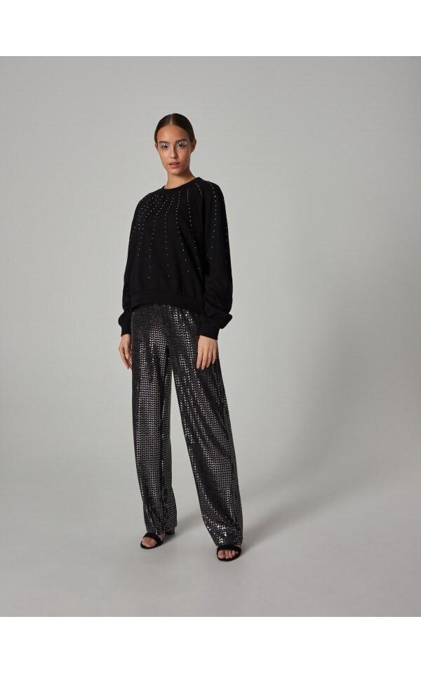 100% de înaltă calitate vândut în toată lumea Produse noi Bluză cu aplicație sclipitoare, SINSAY, XE618-99X