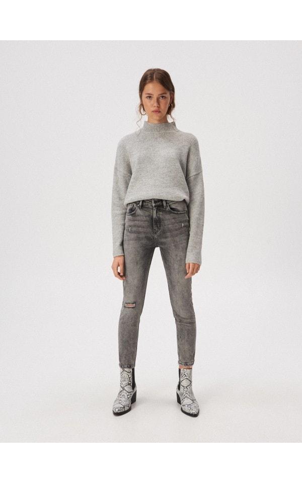 Облегающие джинсы slim fit с завышенной талией, SINSAY, WQ586-85J