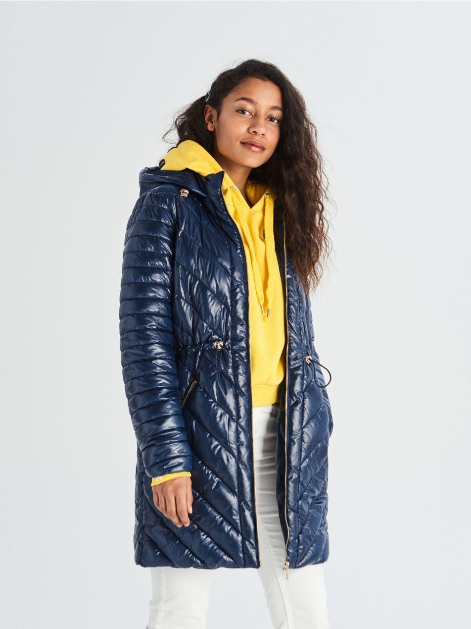 ... Prešívaný kabát - tmavomodrá - UQ737-59X - Sinsay - 4 ... 56f027e2957