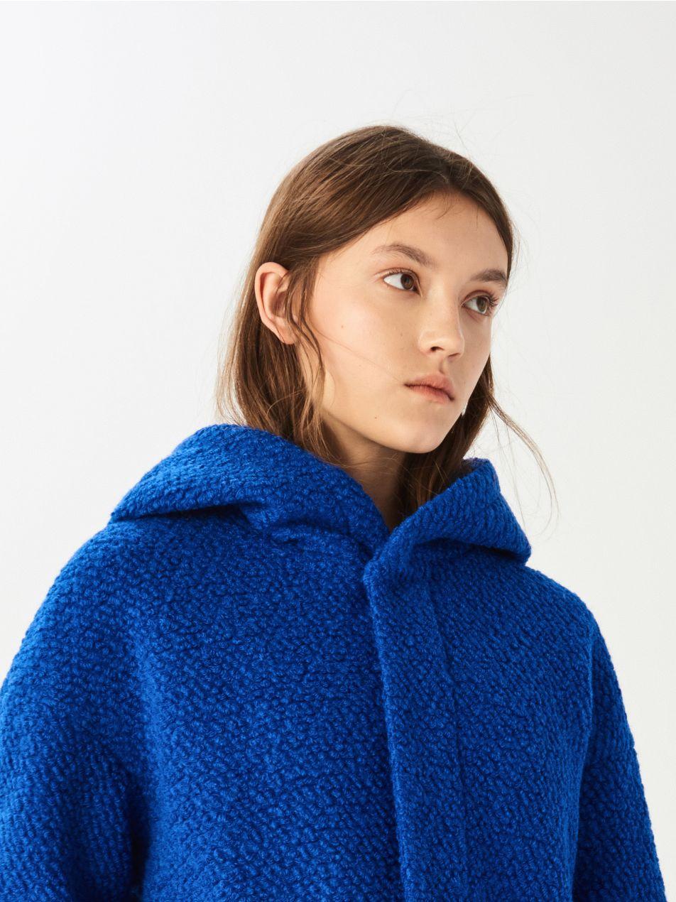 Vlnený kabát - modrá - UQ756-54X - Sinsay - 5 bafcb5566b9