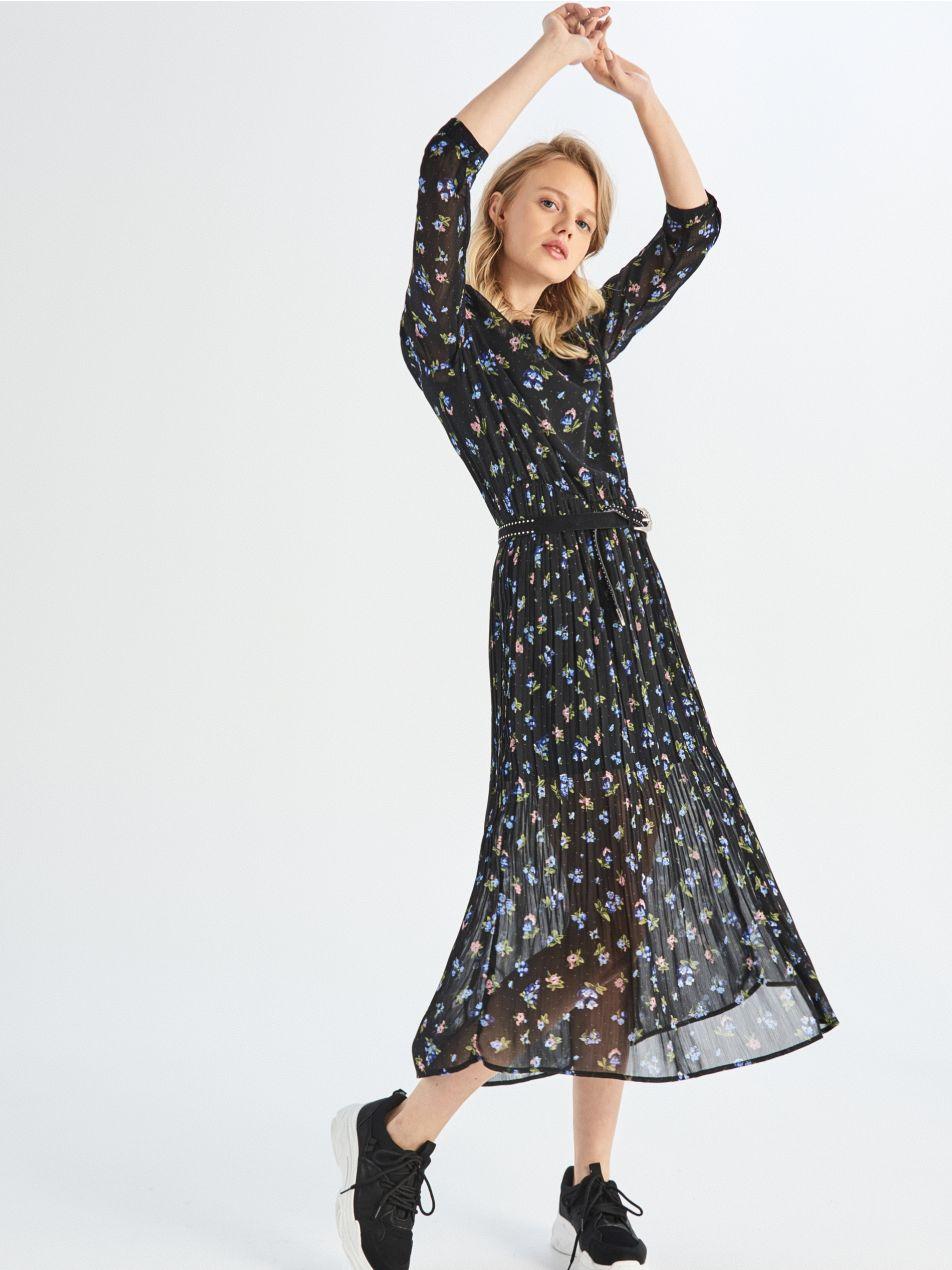 Dlhé šaty - čierna - UZ510-99X - Sinsay - 1 ... e06a94a9158