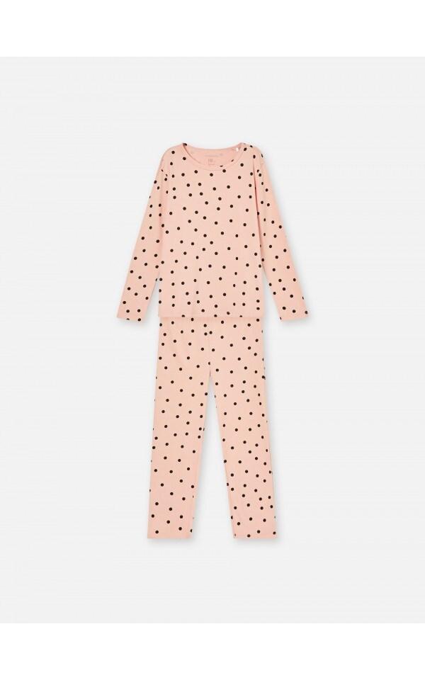 Бавовняний піжамний комплект у горошок, SINSAY, WL068-30X
